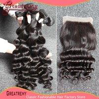 6A Peruvian Brazilian Hair Weave Wavy Loose Deep Wave 1PC Fr...