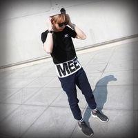 2015 summer popular splice short sleeve Hip Hop T- shirts men...