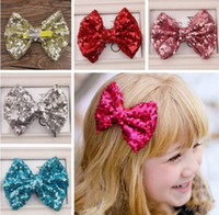 11 Colors Sequined Bowknot Hot Baby Children Girls Lovely Ha...