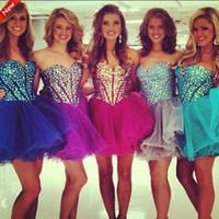 2015 Hot Selling Short Ball Gown Homecoming Dresses 2016 Bli...