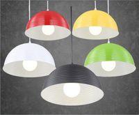 Modern Vivid Colorful Pendant Lamps E27 Aluminum Pendant Lig...