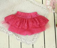 NEW ARRIVAL baby girl kids lace shorts lace short pants skir...