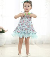 baby girl kids vintage flower tutu dress floral tutu dress p...