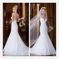 Mermaid Wedding Dresses 2015 Wedding Dress with Cap Sleeves ...