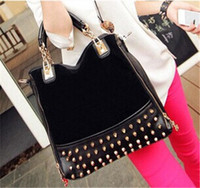 clearance designer handbags 6tjn  Designer Zipper Ladies Leather Totes with Rivet Sequined Luxury Ladies  Handbags Polyester Fabric Discount Party Totes for 10