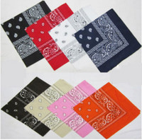 Free Shipping 55*55 CM Cotton Women Men Bandanas Boy Hip Hop...