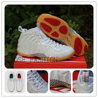 Wholesale Basketball Shoes foam posite PRO WHITE GUM PennyHa...