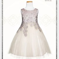 2015 Golden Gold Girls Lace Flower Wonderful Layered Tulle D...