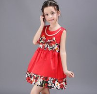 2016 Summer Baby Dresses Elegant Girls Pearl Flower Butterfl...