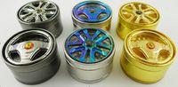2015 Nouveau broyeur d'herbe couleurs Les pneus de voiture meuleuse meuleuse tabac fumer meuleuse mix de livraison gratuite