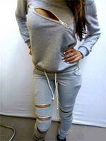 2015 Fall Winter Women Sweatshirt Pullover & Pant With Zippe...