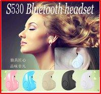 Мини беспроводной наушник Bluetooth V4.0 стерео S530 Наушник гарнитура Супер Мини + Свет музыки наушники для iphone 6 Samsung HTC Universal
