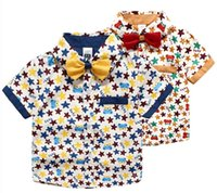 The Latest Summer Children Cotton Short Sleeve Star Printed ...