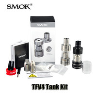 Authentic SMOK TFV4 Full Tank Kit 5ml Pyrex Galss Top Refill flux d'air réglable Sub Ohm Réservoir Pour Xcube II Xpro M80 PLUS Mod