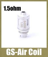 GS-Air Coil 1.5ohm remplacement Bobine de base pour les GS Air Atomizer Huge Vapor réservoir chauffant tête de bobine double bobines correspondent 20W FJ065