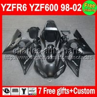 7gifts Flat black For YAMAHA YZF R6 98- 02 YZF600 98 99 00 01...