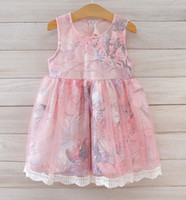Girls Dress 2015 Summer Kid' s Clothes Sleeveless Floral...