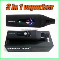 Herova 3 en 1 Vaporisateur E Kit céramique Kit Dry Herb vaporisateurs Or Wax Disponible Wax Vaporisateur Pen Kit Livraison gratuite