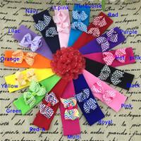 chevron bow headbands, 3inch chevron ribbon hair bow with 5*1...