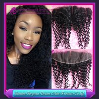 13x4 Peruvian lace frontal deep curly virgin lace frontal wi...