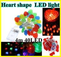 4m 40 LED Romantic Heart Shape SMD Colorful LED String strip...