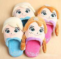 Hot Selling Slippers Autumn Winter Kids Plush Cartoon Warm S...