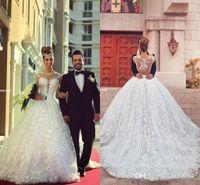 2015 Vestidos De Novia Long Sleeve Lace A Line Wedding Dress...
