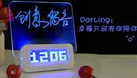 Светодиодный цифровой Люминесцентная Форум Часы Будильник Таймер температуры Календарь концентратор USB синий / зеленый свет