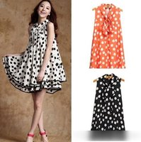 Summer Style Dot Printed Pregnant Maternity Dresses Casual P...