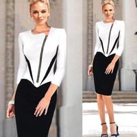 2015 Women Office OL Work Dresses Vestidos Women Elegant Fro...