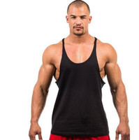 Cotton Fitness clothes Gym bodybuilding tank top men Sleevel...