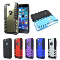 Hybrid Shockproof Rugged Rubber Hard Armor Case Cover for iP...
