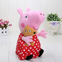 Plush spot pig 12inch 30cm Plaid skirt toy toddler Plush dol...