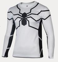 men t shirt 2015 white spider man long sleeve t- shirt outdoo...