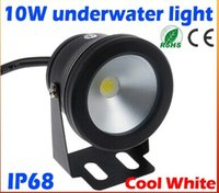 2015 high quality 10W 12v underwater Led Light Cool White Wa...
