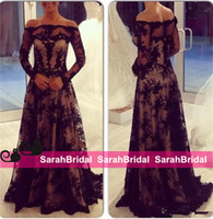 2015 Hot Sexy Black Lace Evening Dresses Zuhair Murad Coutur...