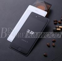 3D curvées en verre trempé Protecteurs d'écran pour Iphone 7 Iphone 6S Plus pleine couverture 0,2MM 9H de qualité supérieure avec le paquet au détail