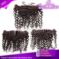 Greatremy® 13*2 ear to ear Virgin Brazilian Curly Wave Lace ...