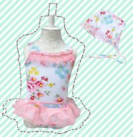 Flowers Pattern Children Girls Siamese Swimwear 2014 New Arr...