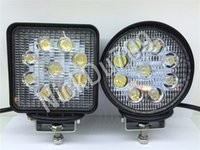 27W Round Square LED Work Driving Spot Lights Flood Spot Bea...