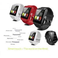 U8 inteligentes reloj relojes de pulsera Bluetooth con el altímetro para el iPhone 4 4S 5 5S Samsung S4 S5 Nota 2 Nota 3 teléfono Android