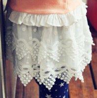 Korean baby girl kids lace skirt crochet skirt embroidery sk...