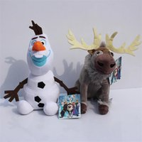 Frozen Olaf plush toy snowman and Sven Milu deer Sven Plush ...