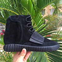 Cheap Discount Final Boost 750 Blackout Kanye West Shoes All...