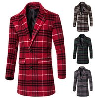 2015 autumn winter men wool coat mens trench coats slim fit ...