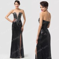 Grace Karin Sexy Strapless Split Front Sequins Ball Gown Eve...