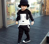 Spring Fall Boys Girls Casual 2pcs Outfits Children Clothing...