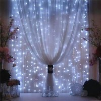 US Stock! 300 600 LED Fairy Curtains String Bulb US Standard...