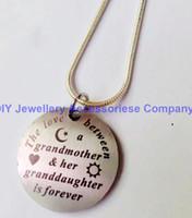 24pcs 30mm en acier inoxydable amour STAR betwwen grand-mère et collier pendentif cadeau femme de son amant (chaînes de serpent 2mm inclus)