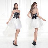 2015 Tarik Ediz Wedding Party Dresses Black and White Homeco...